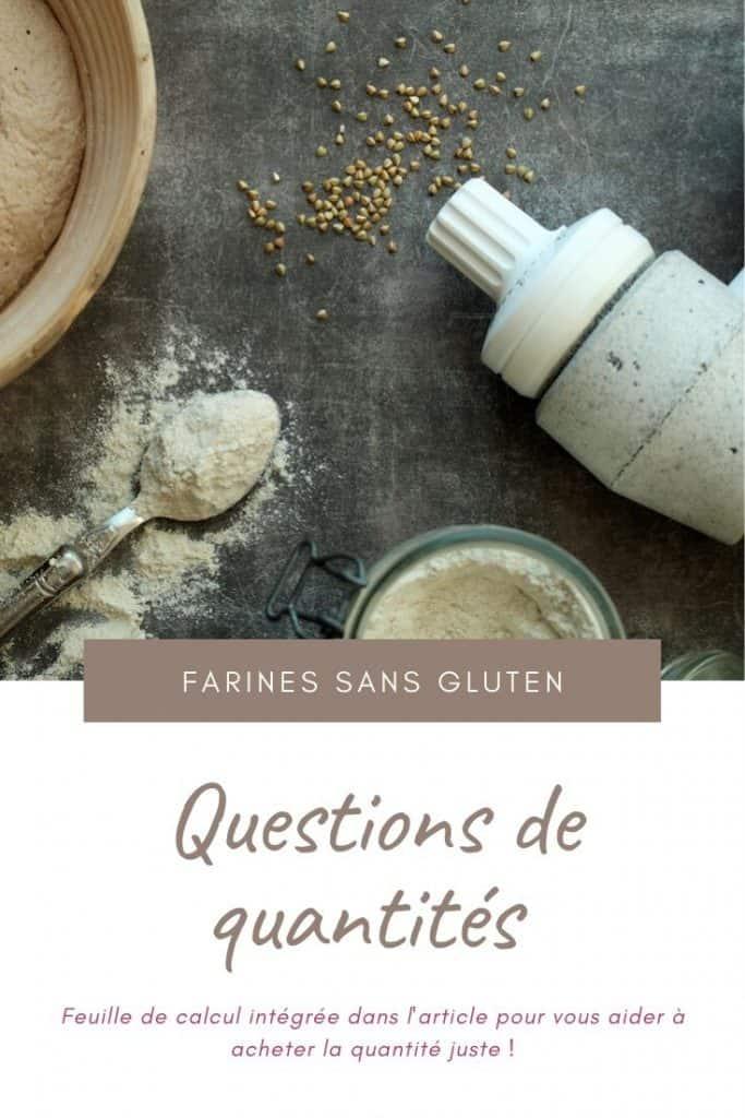 Farines sans gluten - quelles quantités acheter ?