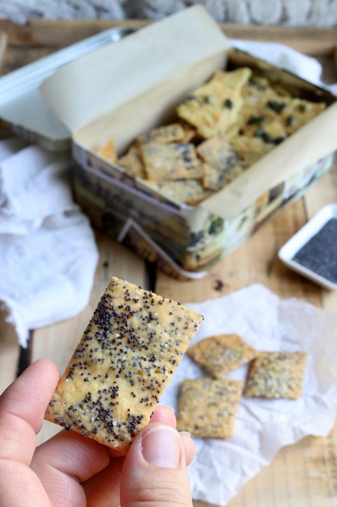 Crackers au pavot sans gluten