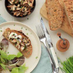 Bruschetta sans gluten aux champignons