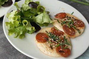 Pancake au chorizo sans gluten