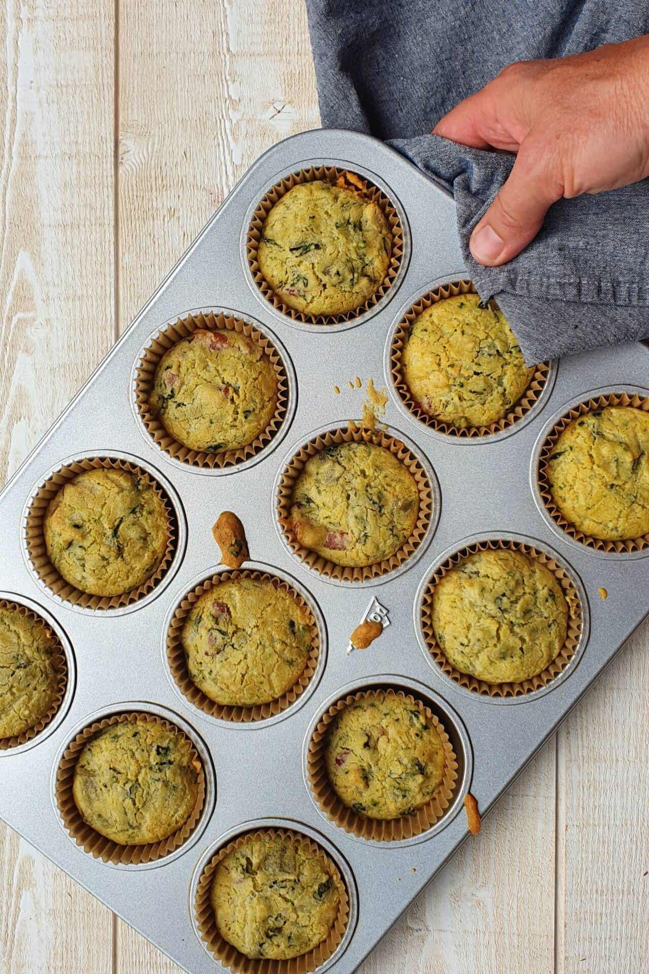 Muffins comté-blettes sans gluten